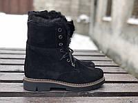 Ботинки №412-5 черный замш, фото 1