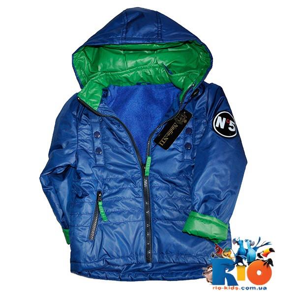 Весенняя  куртка на флисе, для детей 3-7 лет (5 ед в уп)