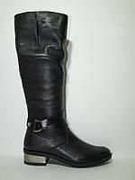 Высокие женские кожаные сапоги демисезонные, сапоги кожаные от производителя модель КА950