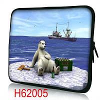 """Чехол для планшета гламур 7-8"""" HQ-Tech H62005 """"Мишка на отдыхе"""", неопреновый"""
