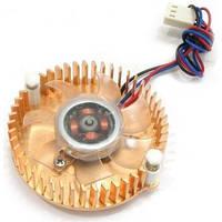 Вентилятор (Cooler) для видеокарты Gembird VC-RE медный Led