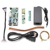 DIY LCD Комплект для платы контроллера+адаптер питания для входного интерфейса M.NT68676.2A HDMI+DVI+VGA+звуковой пиксель 1920 * 1080 Шаг точки 1 мм