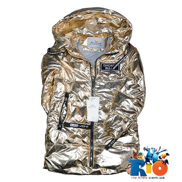 Весенняя удлененная куртка, плащевка на подкладке, для девочек ростом 134-158 см (5 ед в уп)