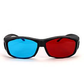 Красный Синий 3D Очки Черная рамка для размерного анаглифа Фильм-фильм DVD Проектор