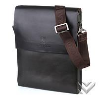 Мужская сумка через плечо bradford коричневая