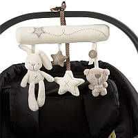 Музыкальная Плюшевая коляска Коляска Детская коляска Рэттл Висящий Кролик Звезда Игрушка Животное POP