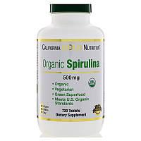 California Gold Nutrition, Спирулина, Органическое происхождение, 500 мг, 720 таблеток
