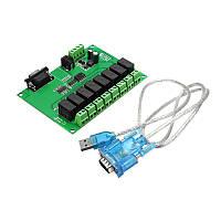 8-канальный релейный модуль ПЛК Power Sequencer Board Программируемая циклическая последовательность Start Delayed