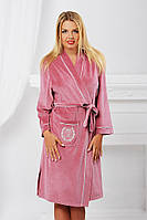 Халат женский домашний розовый до колена Komilfo Dubai