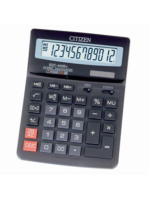 Калькулятор Citizen SDC-400 бухгалтерський 12р