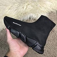 Мужские кроссовки в стиле Balenciaga Speed Trainer All Black Черные