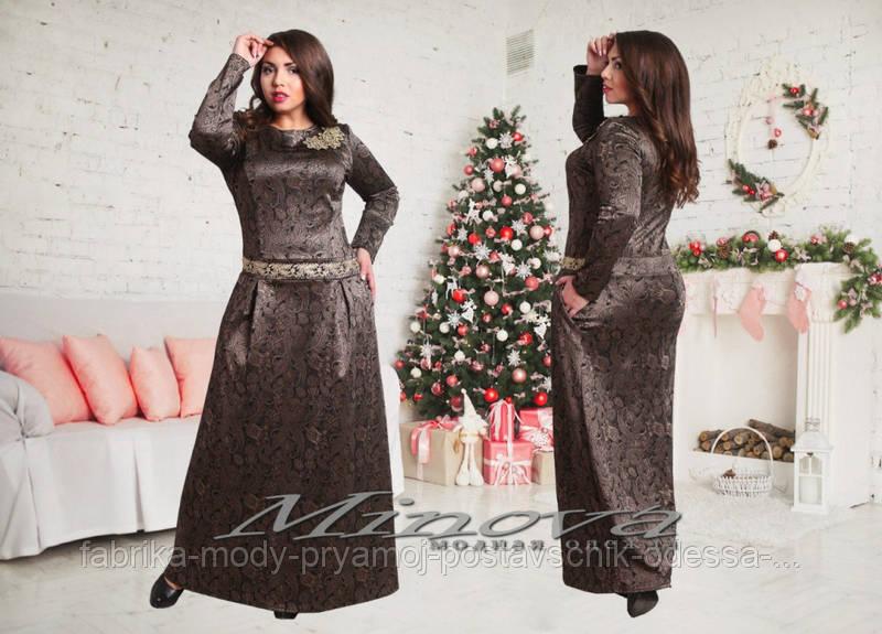 Платье №322-коричневый