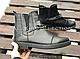 Ботинки № 409-4 черная кожа + цепь