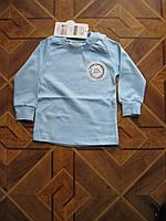 Детские однотонные футболки с длинным рукавом для деток 1-3года Турция хлопок, фото 1