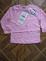 Детские однотонные футболки с длинным рукавом для деток 1-2 года Турция хлопок, фото 1