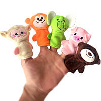 10 штук Finger Puppets Soft Ткани для животных Кукла Ручные игрушки Плюшевые игрушки для детей Детские подарки для детей