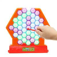 SaveBeesKnockDownBuildingBlocks Beating Honeycomb Настольная игра для детей Детские развивающие игрушки