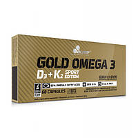 Olimp Labs, Рыбий жир Gold Omega 3 D3+K2 Sport Edition, 60 капсул