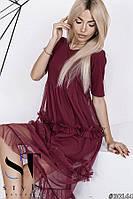 Женское платье с евросеткой 42-46рр, фото 1