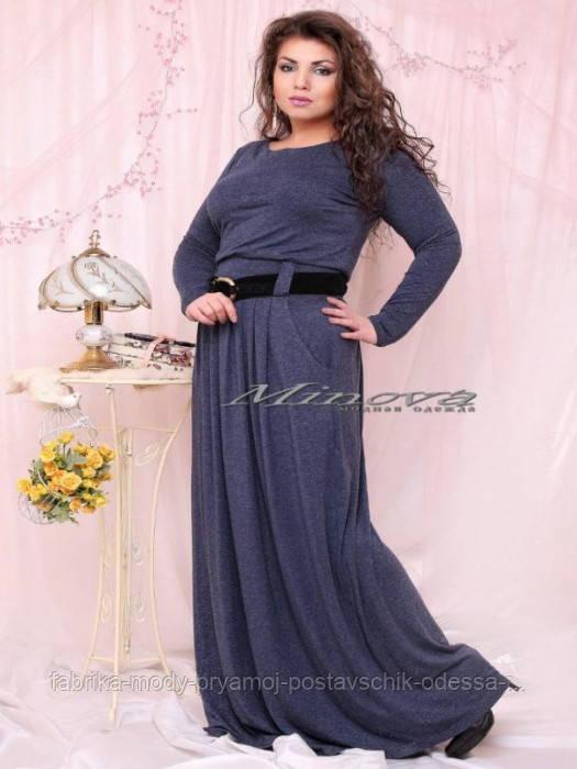 """Платье №15-22 """"Одесситка""""-тем.синий"""