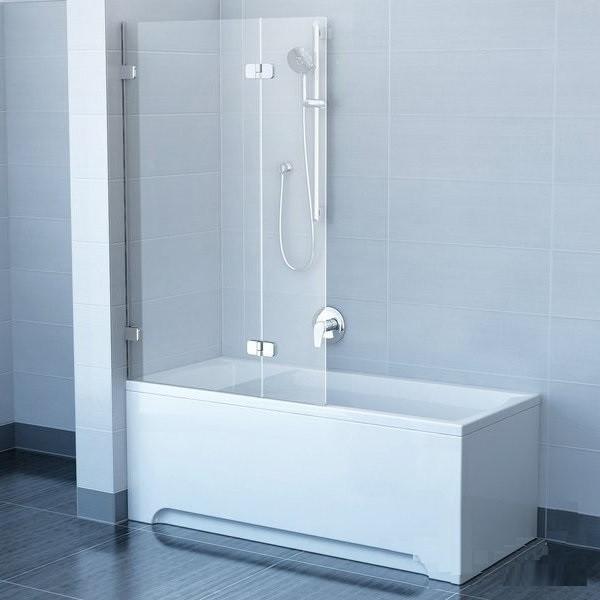 Шторки для ванны Ravak BVS2-100 R 7UPA0A00Z1 хром/прозрачное правая 1005х1500 мм
