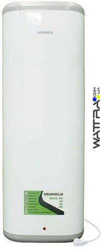 Бойлер 100 л Grunhelm GBH I-100VH FLAT водонагреватель накопительный, плоский, бак нержавейка