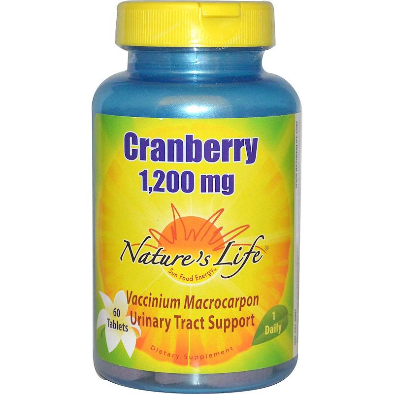 Nature's Life, Клюква, 1200 мг, 60 таблеток