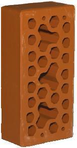 Красный Морковный облицовочный кирпич СБК