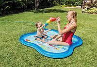 Детский надувной бассейн с фонтанчиком Подводный мир Intex 57126 140x140x11 см