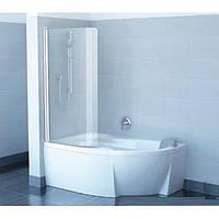 Шторка для ванны Ravak Rosa CVSK1 140/150 L 7QLM0100Y1 белый профиль, прозрачное стекло 850х1500 мм