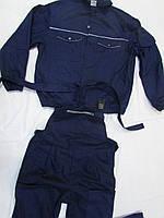 """Костюм """"Стронг"""" темно-синий, полукомбинезон + куртка, ткань Саржа, плотность 265 г/м2, 80% хлопка"""