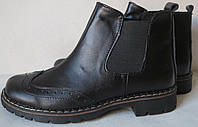 Timberland (реплика) женские черные ботинки натуральная кожа  весна осень