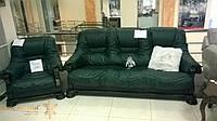 Кожаный диван и кресло София