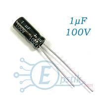 Конденсатор 1uF 100V, (5*11) 105°C