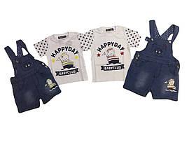 Костюм летний-двойка (футболка, шорты)  для мальчика, F&D, размеры  12-36мес   арт.5278