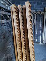 Секция забор деревянный лесенка  2,0х2,0м 15, Свежепиленная сырая доска