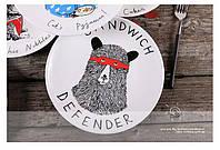 Тарелка подарочная с рисунком Защитник Сендвича