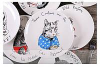 Тарелка подарочная с рисунком Кошкина Пижама