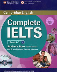 Complete IELTS Bands 4-5 Student's Book with answers and CD-ROM and Audio CDs