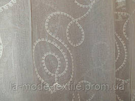 Тюль лен завиток белый 2,80 м в. с утяж.