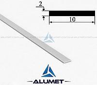 Полоса алюминиевая 10х2 мм анодированная ПАС-0510