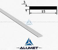 Полоса алюминиевая 15х3 мм анодированная БПО-1109