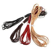 5m Кожаный ремешок из плоской полосы Шнур шнура Провод Браслет ювелирных изделий DIY Ремень Ремень 3 мм