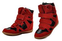 Кроссовки сникеры Isabel Marant красные