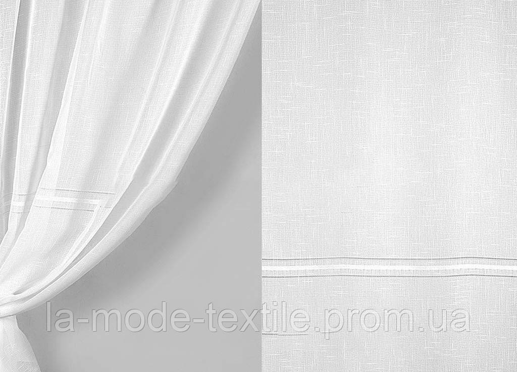 "Гардина лен мережка однотонная белая в. 2.8 м - Магазин домашнего текстиля  ""À-La-Mode Textile"" в Киеве"
