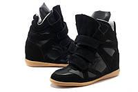 Кроссовки сникеры Isabel Marant черные, фото 1