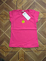 Детская летняя футболка с коротким рукавом для девочек 4, 7 лет Турция хлопок