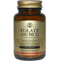 Solgar, Фолат (как метафолин), 400 мкг, 100 таблеток