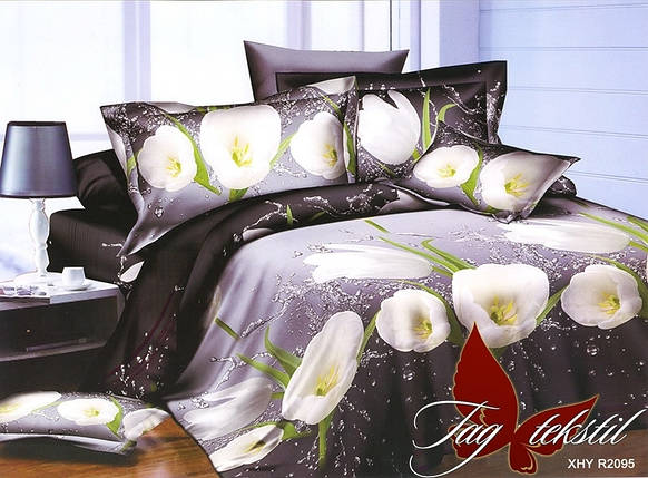 Постельное белье ТМ TAG/2-спальные/Ренфорс R2095, фото 2