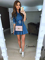 Платье джинсовое короткое